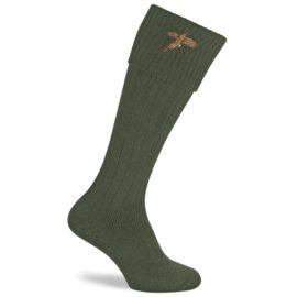 Pennine Stalker Olive & Pheasant Shooting Socks