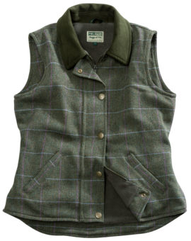 Hoggs of Fife Albany Ladies Lambswool Tweed Waistcoat