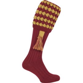Jack Pyke Pebble Shooting Socks & Garters - Burgundy