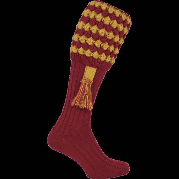 Jack Pyke Pebble Shooting Socks & Garters - Burgundy