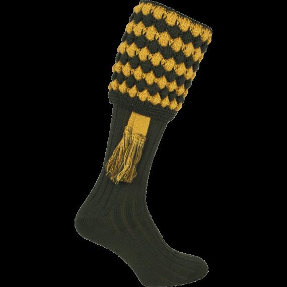 Jack Pyke Pebble Shooting Socks & Garters - Green