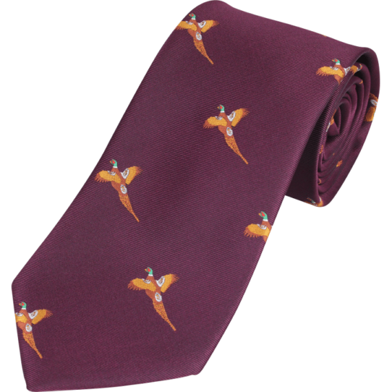 Jack Pyke Pheasant Country Tie - Wine