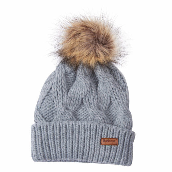 LHA0322 Barbour Ashridge Beanie Hat Grey