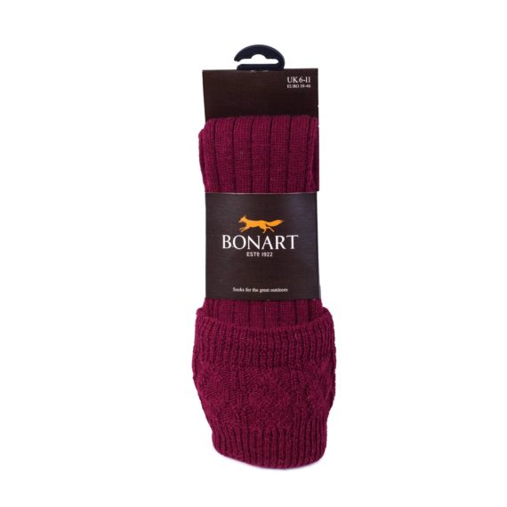 Bonart Padstow Shooting Socks - Red