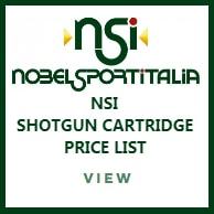 NSI Shotgun Cartridge Price List