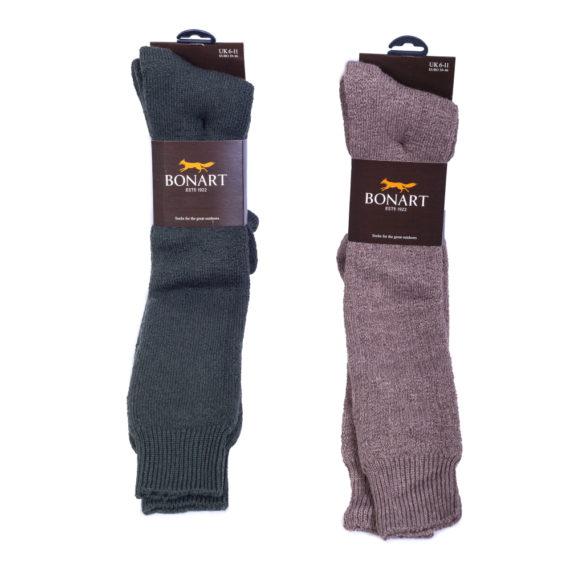 Bonart Dunoon Knee Length Socks - Olive / Granary