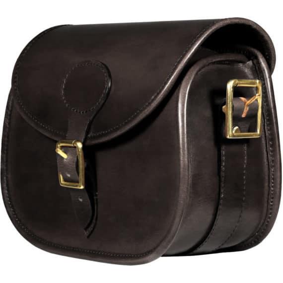 Teales Premier Leather Cartridge Bag - Dark Brown