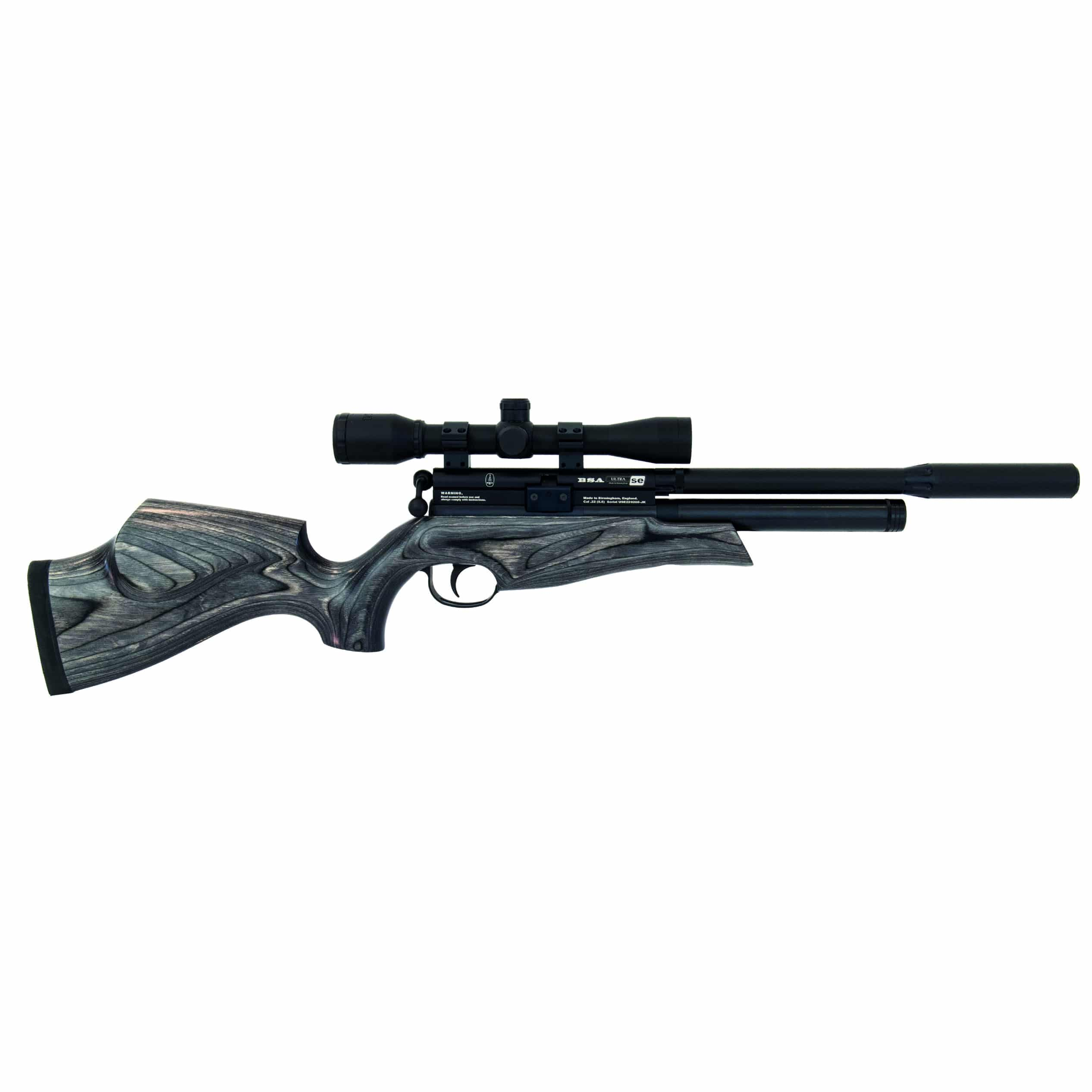 BSA Ultra SE CCS Black Pepper Laminate Air Rifle 177 22