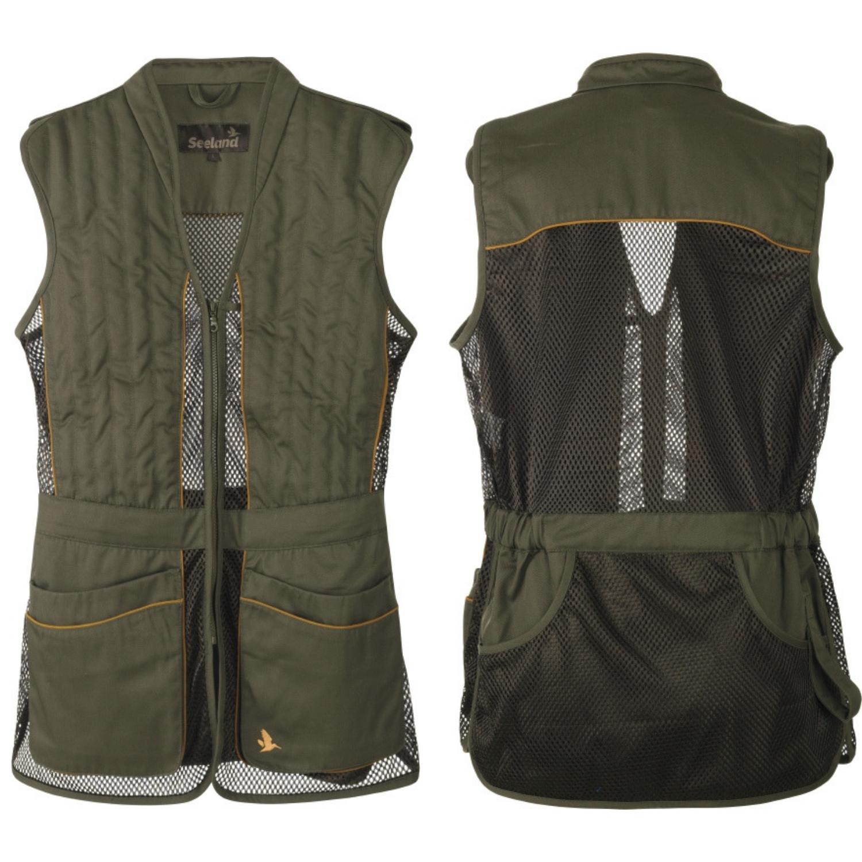 Seeland Skeet 2 Waistcoat Black Mesh Clay Pigeon Shooting Skeet Vest