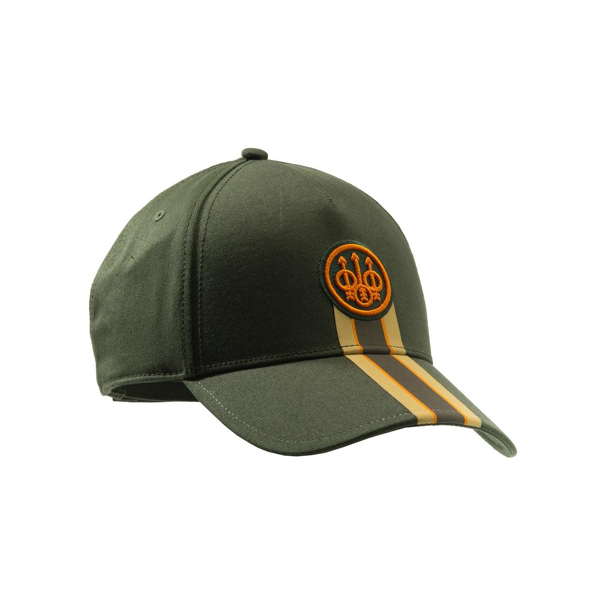 Beretta Corporate Striped Cap in Green
