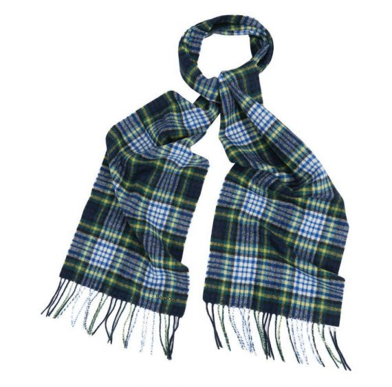 Barbour Icons Tartan Scarf Bright Blue