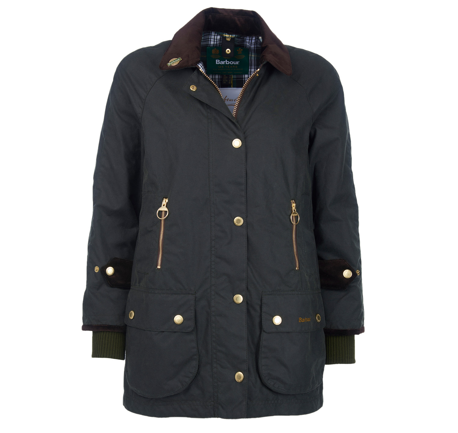 Ladies Barbour Icons Beaufort Waxed Jacket Countryway