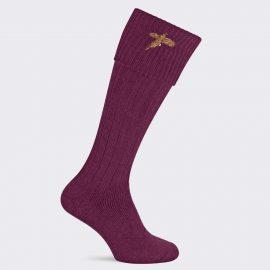 Pennine Stalker Burgundy Shooting Socks