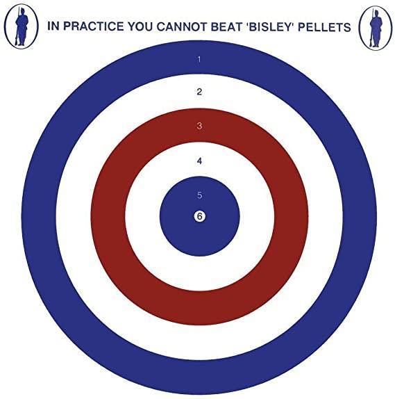 Bisley 17cm Coloured Card Air Rifle Targets x100