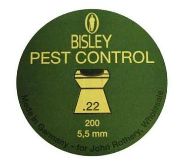 Bisley pest control 22 air rifle pellets